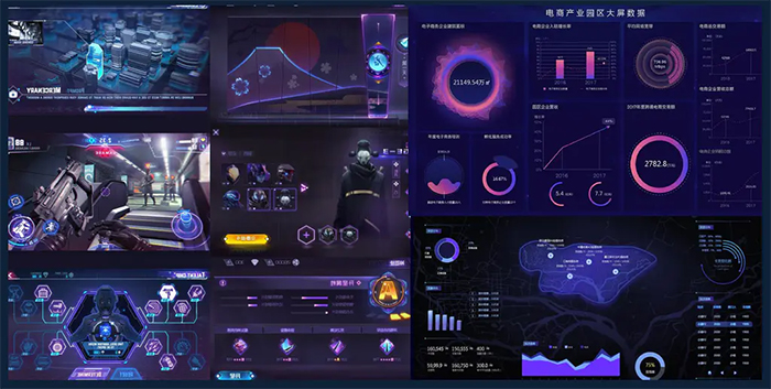 UI設計基礎知識:為界面增加科技感的小妙招